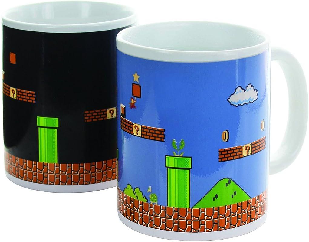 Paladone Super Mario Brothers Heat Changing Ceramic Coffee Mug Collectors Edition