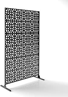 Veradek Parilla Decorative Screen Set w/Stand - Black
