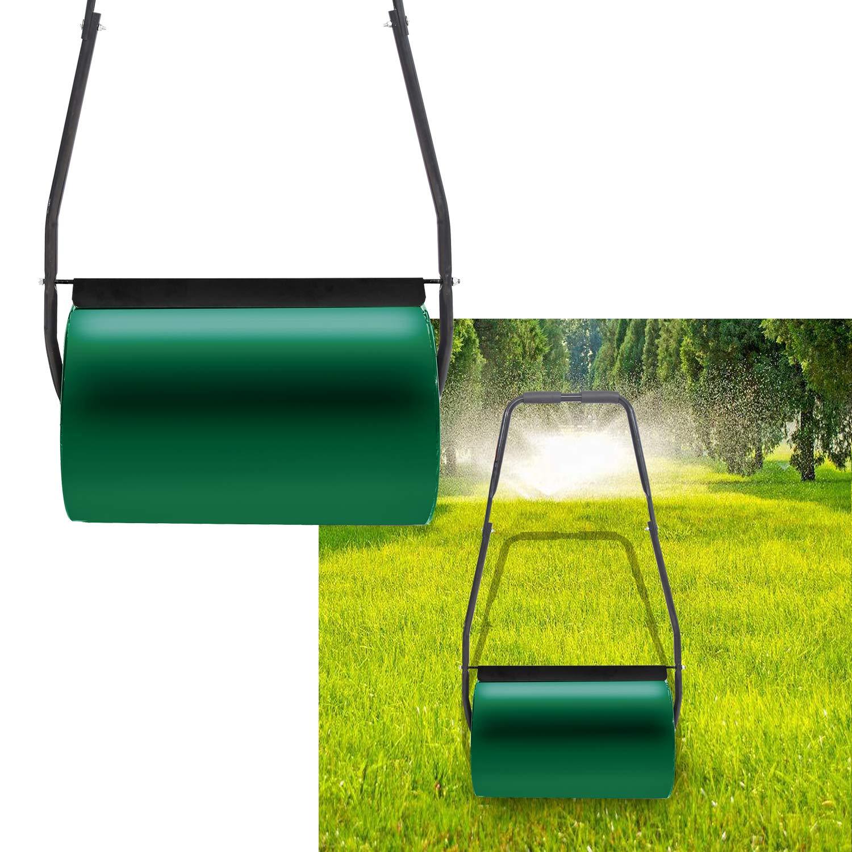 Aufun Rodillo de césped de Metal 57 cm Rodillo Ancho, 32 cm de diámetro, 46 L Volumen de Relleno Rodillo Jardin - Verde: Amazon.es: Jardín