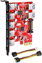 Inateck Superspeed 7 Ports PCI-E to USB 3.0 Expansion Card - 5 USB 3.0 Ports and 2 Rear USB 3.0 Ports Express Card Desktop...