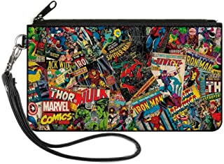"Buckle-Down Unisex-Adult's Zip Wallet Marvel Comics Small, Multicolor, 6.5"" x 3.5"""