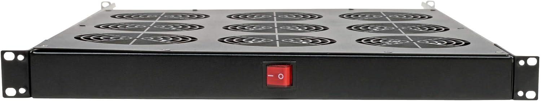 Tripp Lite Fan Tray for 19In Racks, 9 120V Fans 576 CFM C14 Inlet 1URM