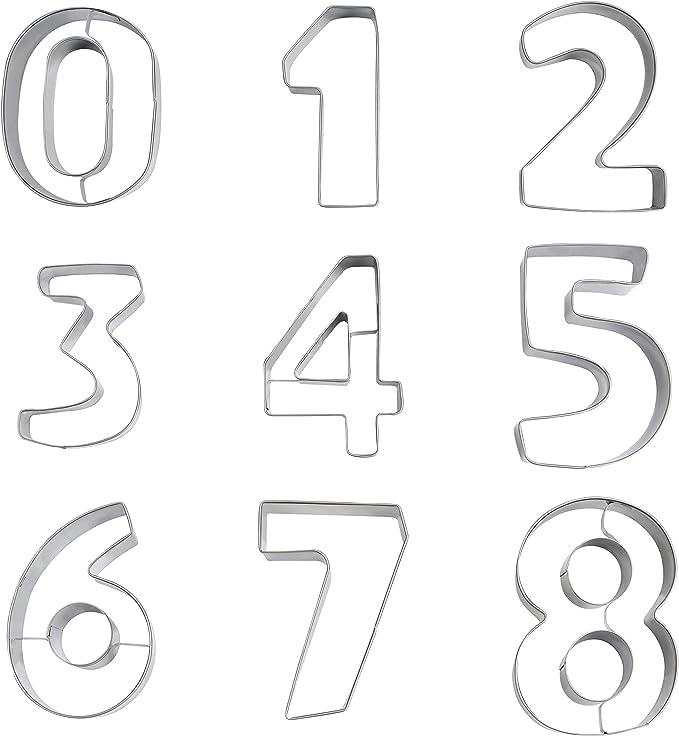 501 opinioni per Kurtzy 9 Stampini Numeri per Dolci e Formine Biscotti Grandi- Stampo Numeri per