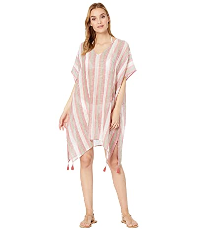 Seafolly Vertical Stripe Stripe Kaftan (Spice) Women