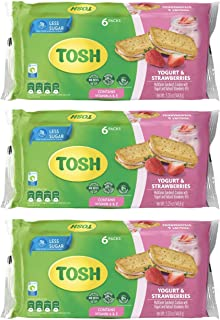 Tosh Yogurt & Strawberries Cream Cookies | No Artificial Flavors or Sweeteners | Less Sugar | Perfect for Breakfast | 5.25...