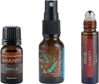 Immunity Kit, 10mL Immunity Oil 100% Pure, 15mL Eucalyptus Mint Shower Spray, 10mL Sinus Topical Roll-on