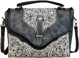 Handbags Western Floral Applique Satchel/Cross Body Purses MW604-8662