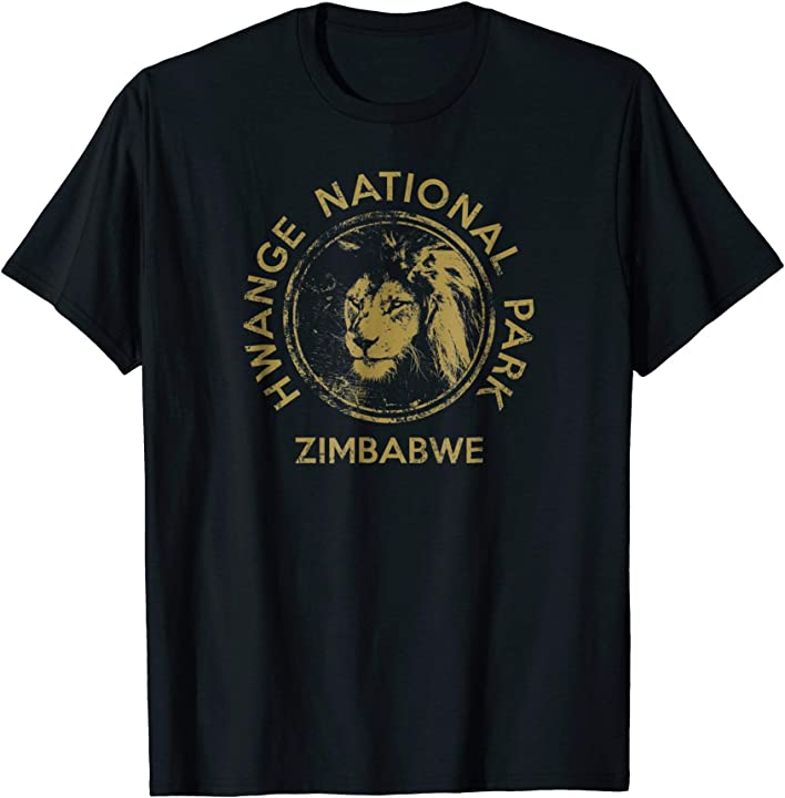 Zimbabwe Lion Hwange National Park African Safari T Shirt