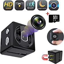 Spy Camera 1080p Mini Hidden Camera | Security Camera for Home and Office Full HD | Nanny Cam | Maximum Support 32G Card | Exquisite Pack | Built-in Battery | Night Vision and Motion Detection