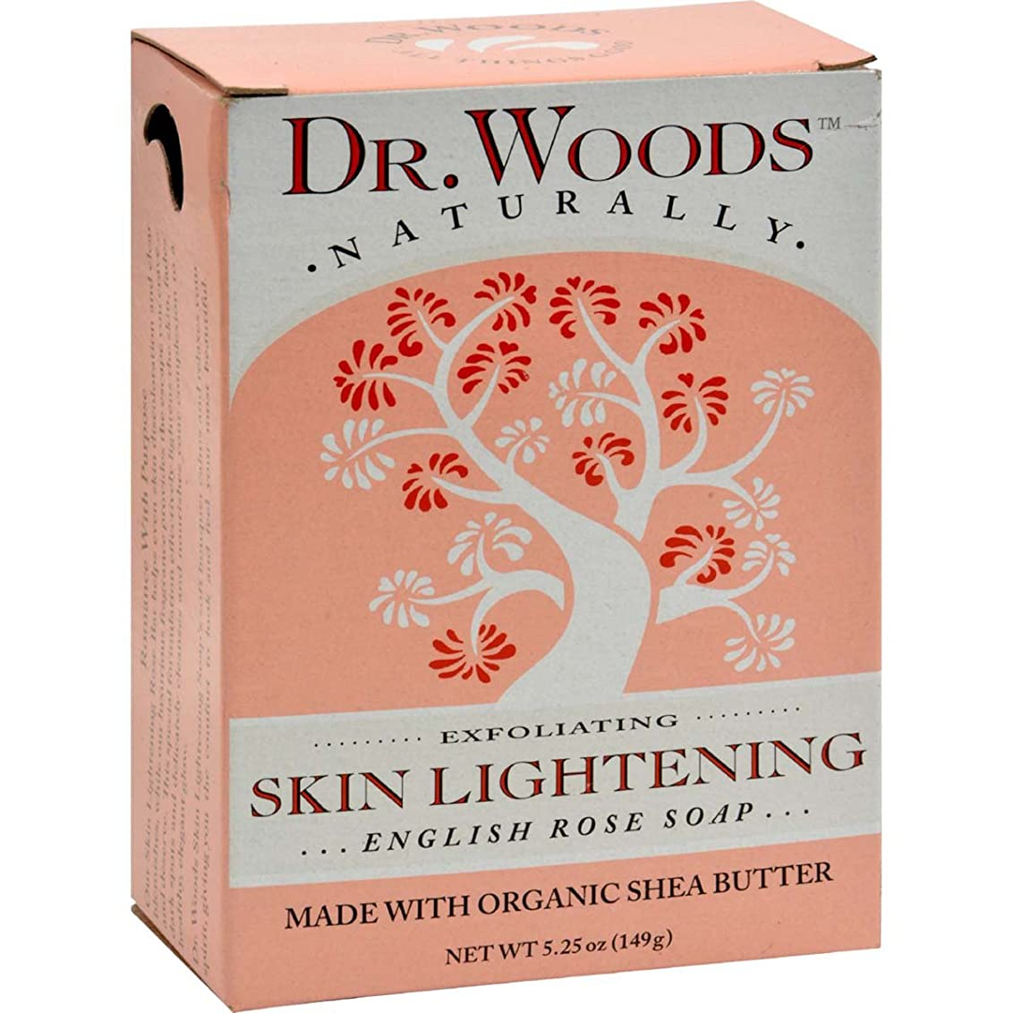 実行可能認証耕すDr. Woods, English Rose Soap, Skin Lightening, 5.25 oz (149 g)