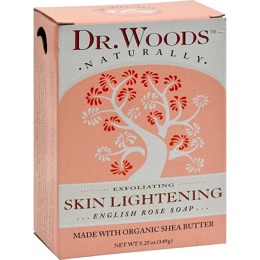 余韻煙光沢Dr. Woods, English Rose Soap, Skin Lightening, 5.25 oz (149 g)