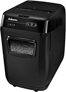 Fellowes 4656201 AutoMax 200M Auto Feed Shredder – 200 Sheet Capacity – Black (4656201)