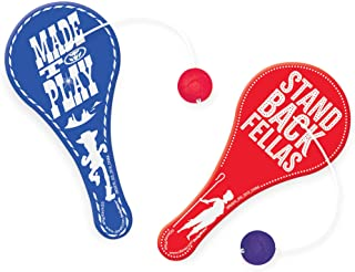"""""""Toy Story 4"""" Blue and Red Party Favor Paddle Balls, 4.5"""" x 2.25"""", 8 Ct."""