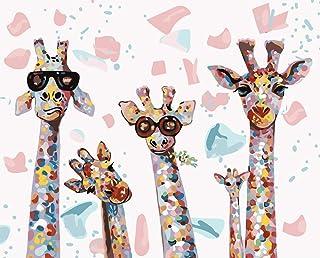 KAMIERFA Peinture Numéro DIY, Kits de Peinture au Numéro Loisir Creatif, Peinture par Numero pour Enfants/Adultes/Seniors,...