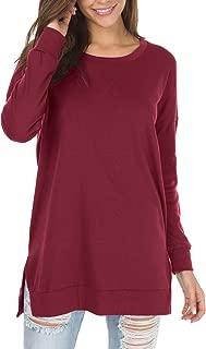 Women's Fall Long Sleeve Side Split Loose Casual Pullover...