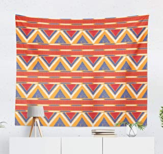 threetothree 50X60 Inches Tapestry Wall Hanging Interior Decorative Tribal African Native American Border and Boho Card African Africa American for Bedroom Living Room Tablecloth Dorm