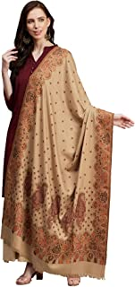 Weavers Villa Women's Acro Wool Blend Woven Kashmiri Shawls, Stoles