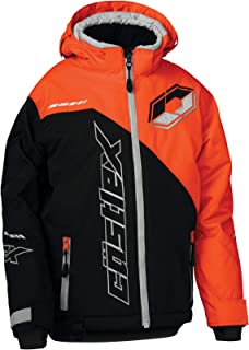 Castle X Stance G2 Youth Snowmobile Jacket - Black/Orange (LRG)