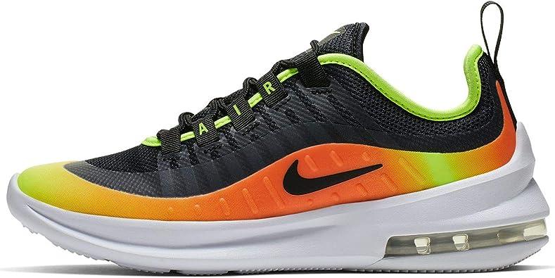 Nike Kids Air Max Axis RF Shoe, Black/Volt/Total Orange, 6 Big Kid