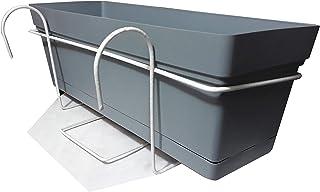 Montra Planter - Charcoal - 50cm - Balcony Holder