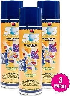 Odif 99945 USA 505 Spray & Fix Temporary Fabric Adhesive 3/Pk-12.4oz, 3 Pack