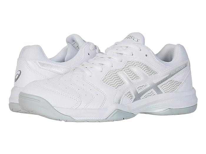 ASICS  GEL-Dedicate 6 (White/Silver) Mens Tennis Shoes