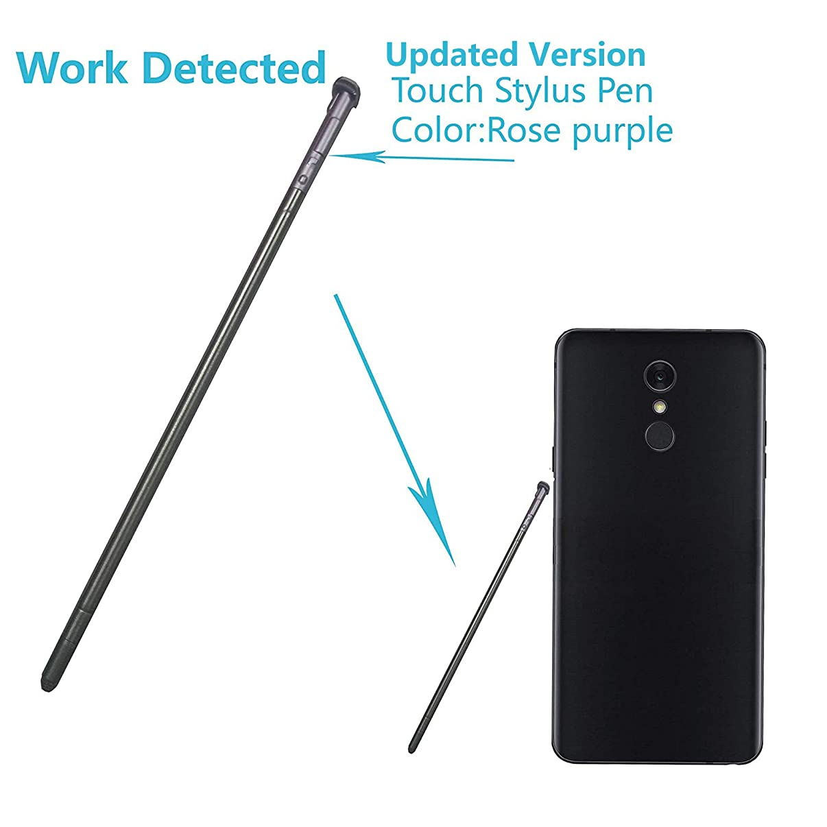 Alovexiong Rose Purple Touch Pen Screen Stylus Pen Can be Detected Replacement Parts for LG Stylo 4,Q Stylus,Q Stylus+,Q Stylus Plus,Stylus 4,Q Stylo 4,LG Q8