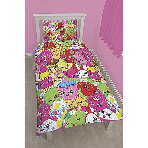 Shopkins Jumble Reversible Design Bed Duvet Cover Polka dot Bedding Set