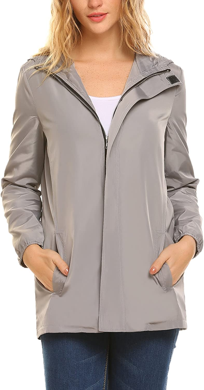 UNibelle Women's Quality inspection Lightweight Waterproof Outdo Jacket Active Rain Direct sale of manufacturer