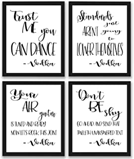 Bar Quotes and Sayings Art Prints | Set of Four Photos 8x10 Unframed | Great Gift for Drinking Buddies Bartender Bar Signs or Cocktail Lounge or Bar Signs Wall Decor Art New Funny Hilarious