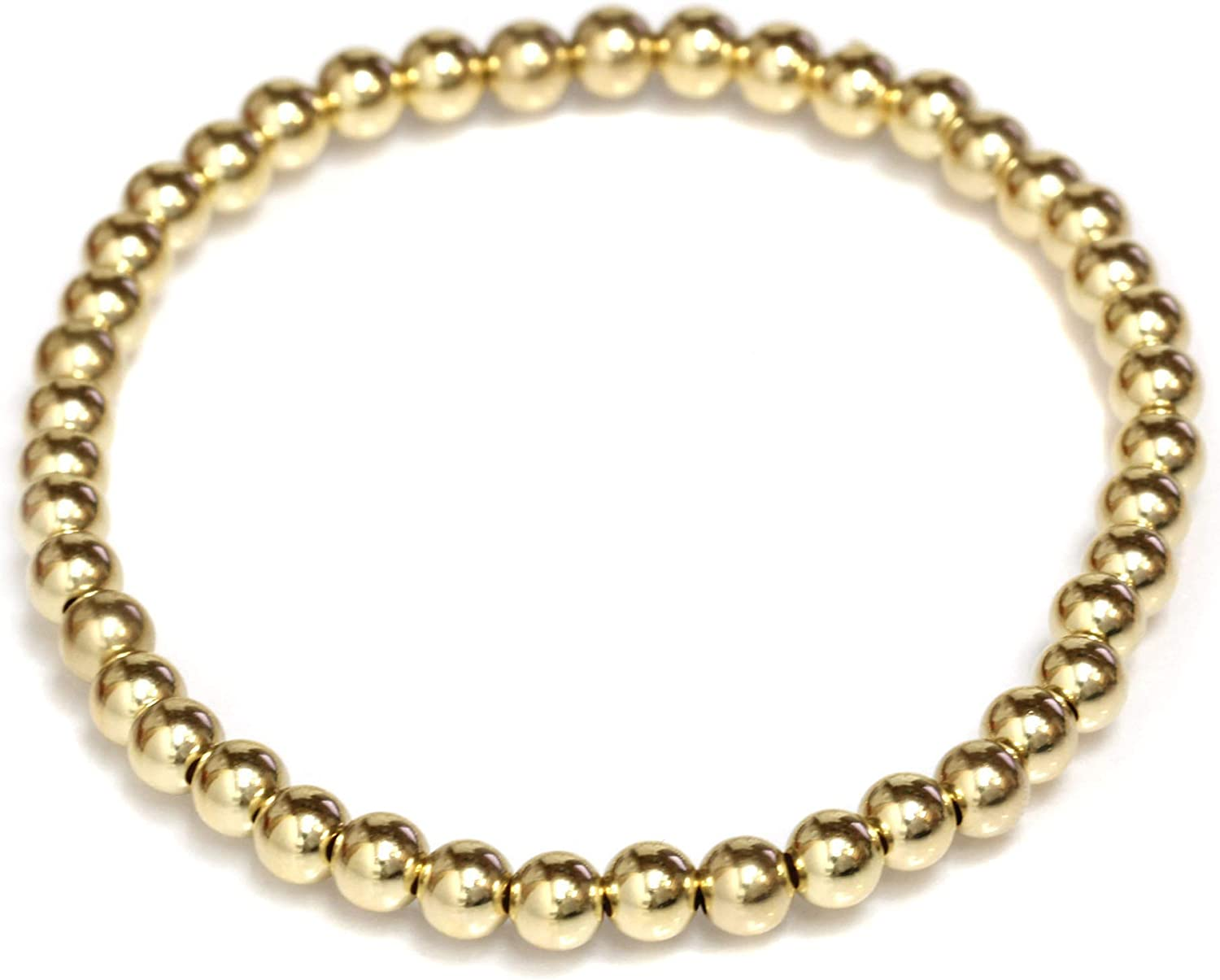 Sale item Seven Seas Pearls Bead Stretch Gold Elastic Yell Filled Bracelet Albuquerque Mall