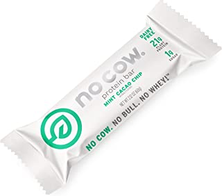 No Cow Protein Bars, Mint Cacao Chip, 21g Plant Based Vegan Protein, Keto Friendly, Low Sugar, Low Carb, Low Calorie, Glut...