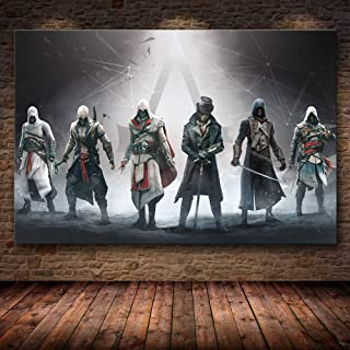 Cuadros Decoracion Sin Marco The Game Poster Decoration Painting Of The Assassin'S Creed En Hd Canvas Canvas Painting Art Poster Wall Art Canvas (40X50Cm),Wkh-1165