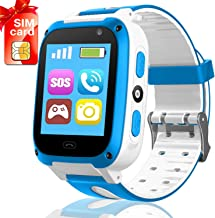 iGeeKid Kids Phone Smart Watch for 3-14 Years Girls Boys Toddler 2 Way Call SOS HD Touch Screen Camera Math Game Flashlight Cellphone Wristwatch Electronic Learning Toys Christmas Birthday Gifts
