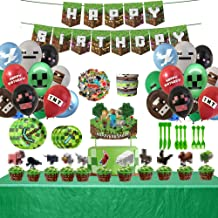Pixel Miner Crafting Style Decorations for Mining Themed or Crafting Style Party Supplies-25PCS Cake Topper Cupcake Topper...