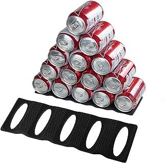 Webake Lot de 2 Support pour Bouteilles Canettes Stockage Organization Refrigerateur Tapis Rangement Frigo Organisateur en...
