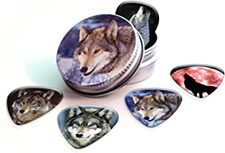 Wolves (Wolf) Premium Guitar Picks x 5 With Tin
