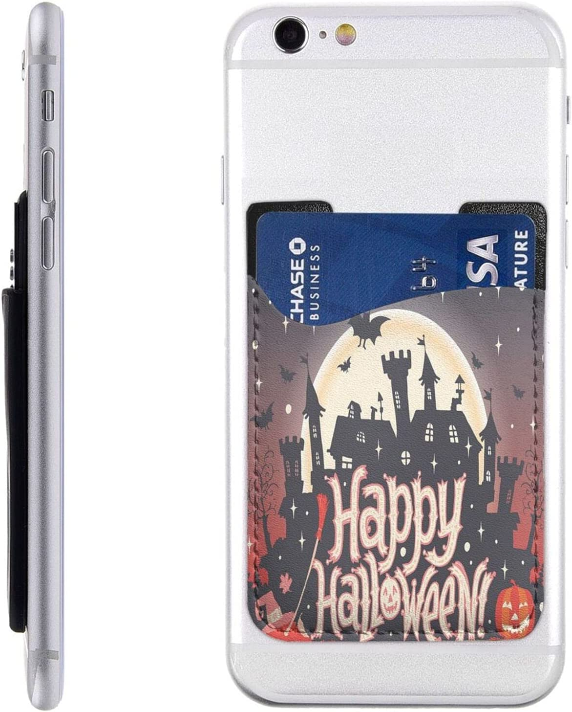 Max 87% OFF Halloween Phone Card Holder Cell Wallet Slee Stick On Max 63% OFF