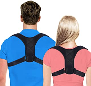 【2019 New】Posture Corrector for Women and Men, FDA Approved Adjustable Upper Back Brace for Providing Pain Relief from Back, Shoulder and Neck, Medical Kyphosis Trainer Under Clothes