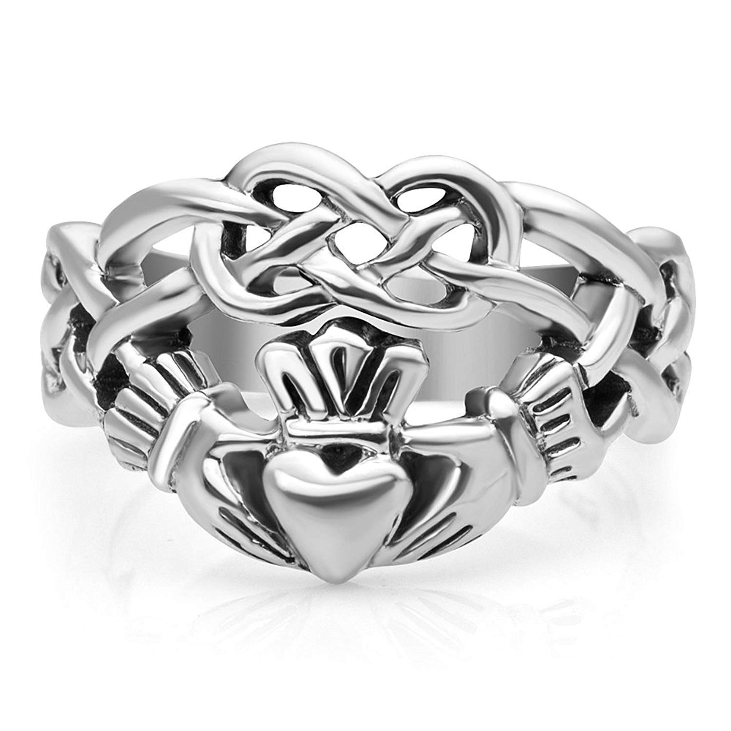 Sterling Silver Minneapolis Mall Celtic Ultra-Cheap Deals Knot Friendship Infinity Claddagh Symbol