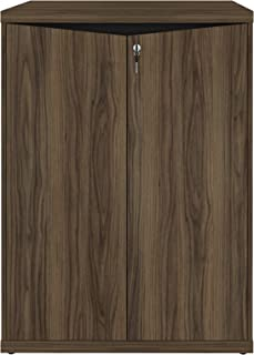 Artany Y37 2 Doors Cabinet, Nogal/Black, H 110 x W 80 x D 50 cm
