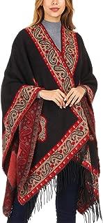 DoFiyeng Women Poncho Shawl Poncho Cape Cardigan Open Front Elegant Cape Wrap Shawl Wrap(44+Colors Available)