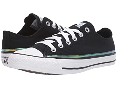 Converse Chuck Taylor All Star Iridescent Stripe Ox (Black/White/Black) Women