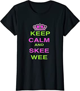 Womens Keep Calm and Skee Wee T-Shirt
