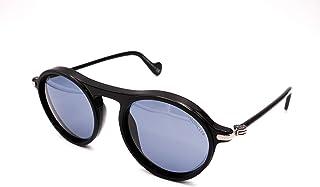 Sunglasses Moncler ML 0103 02V Shiny Black W. Matte Rims, Gunmetal/Blue Lenses