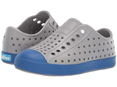 Native Kids Shoes Jefferson (Toddler/Little Kid) (Pigeon Grey/Victoria Blue) Kids Shoes