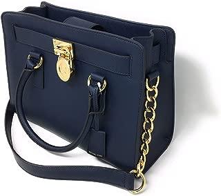 MICHAEL KORS Hamilton East West Saffiano Leather Satchel bag