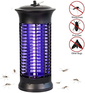 Bug Zapper Electric Indoor Insect Killer suspensible UV Light | Mosquito Killer Bug Fly Pests Attractant Trap Zapper Lamp w/Powerful 1000V Grid for Indoor Home Bedroom,Kitchen, Office(Black)