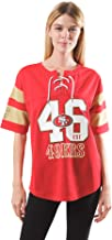 Ultra Game NFL Women's Lace Up T-shirt Jersey