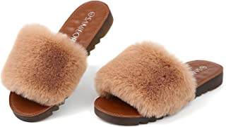 Sponsored Ad - Samilor Cross Band Slippers for Women Open Toe Fuzzy Slippers Women Soft Plush House Shoes Cute Womens Slip...